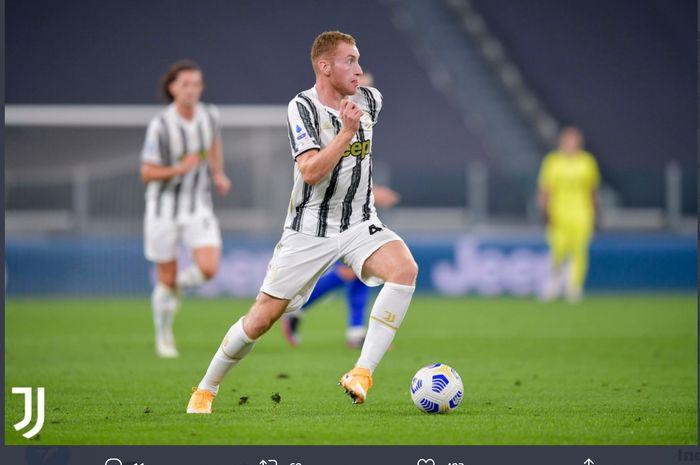 Dejan Kulusevski dalam laga Juventus vs Sampdoria di Liga Italia, Minggu (20/9/2020) di Allianz Stadium, Turin.