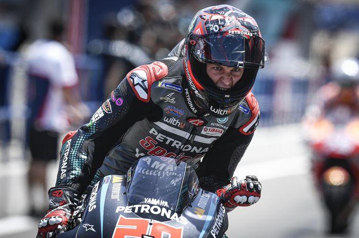 Fabio Quartararo kecewa dan frustasi atas sanksi track limit yang diterimanya di MotoGP Emilia Romagna 2020 (20/9)