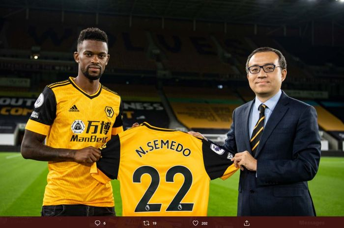 Nelson Semedo telah resmi menjadi pemain baru Wolverhampton Wanderers.