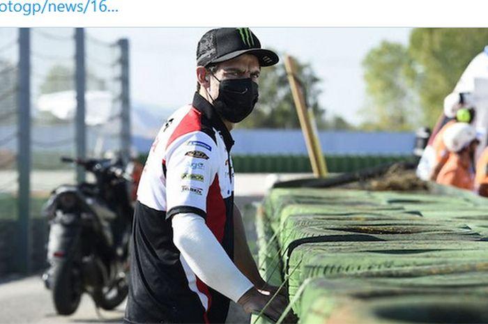 Pembalap LCR Honda, Cal Crutchlow, mengalami arm pump pada lengan kanannya sehingga absen pada seri balap MotoGP San Marino di Sirkuit Misano, Italia, pada 11-13 September 2020.