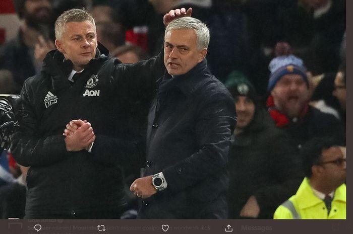 Ole Gunnar Solskjaer dan Jose Mourinho.
