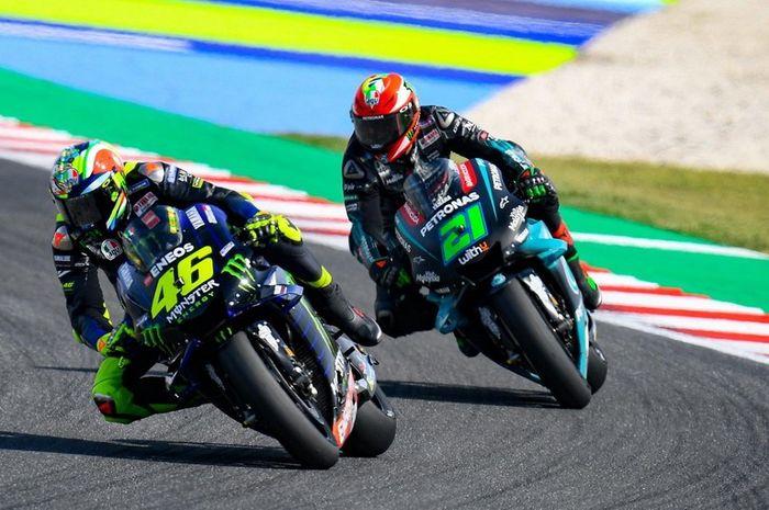 Valentino Rossi dapat pujian dari Franco Morbidelli meski gagal finis di MotoGP Catalunya 2020