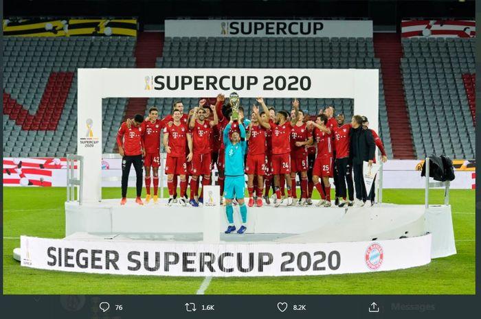 Bayern Muenchen juara Piala Super Jerman 2020 setelah mengalahkan Borussia Dortmund 3-2.
