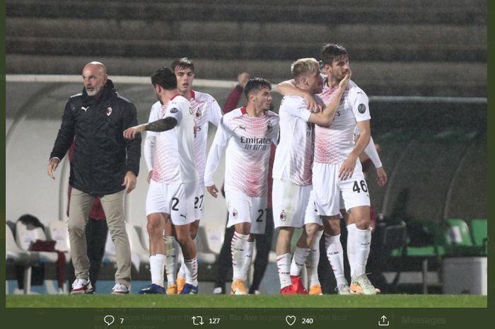 AC Milan lolos ke fase grup Liga Europa setelah menang adu penalti atas Rio Ave.