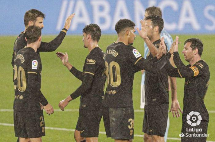 Barcelona meraih kemenangan atas Celta Vigo dalam lanjutan LaLiga, Kamis (1/10/2020).