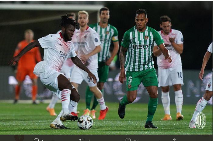 Laga Rio Ave vs AC Milan di babak play-off Liga Europa, Kamis (1/10/2020) di Estadio dos Arcos.