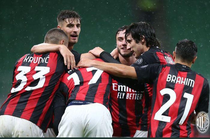 AC Milan mengalahkan Spezia 3-0 dalam lanjutan Liga Italia, 4 Oktober 2020.