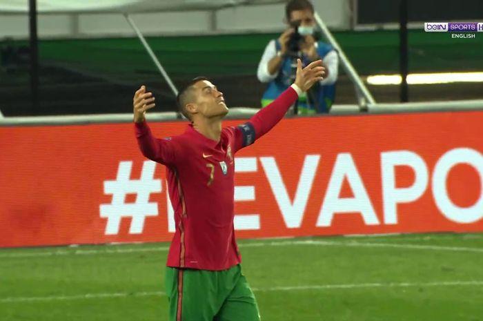 Cristiano Ronaldo pada laga Portugal Vs Spanyol yang berakhir 0-0 di Stadion Jose Alvalade, Rabu (7/10/2020) atau Kamis dini hari WIB.