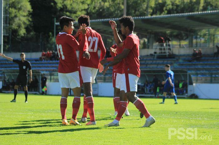 Timnas U-19 Indonesia menang 3-0 atas NK Dugopolje di Stadion NK Uskok Klis, Split, Kamis (8/10/2020) malam WIB.