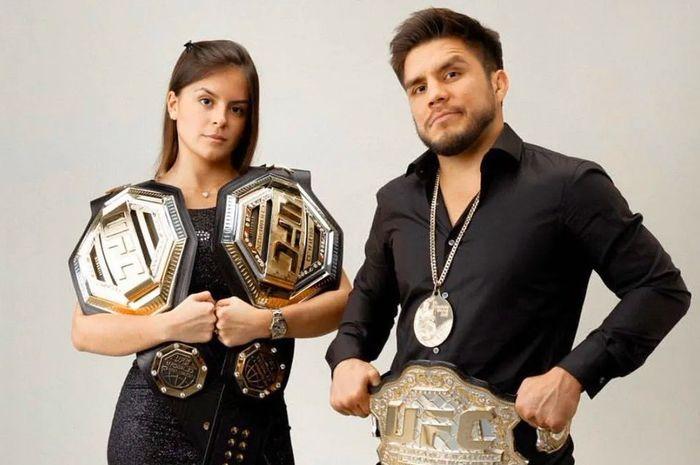 Henry Cejudo dan mantan pacarnya, Amanda Dallago Cheves.