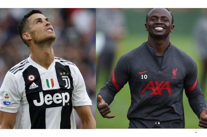 Bintang Juventus Cristiano Ronaldo dan sayap Liverpool Sadio Mane sama-sama menjadi korban Covid-19, tapi berbeda dalam menyikapinya.