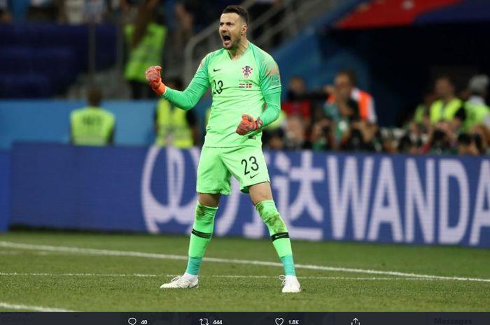 Danijel Subasic saat membela timnas Kroasi pada Piala Dunia 2018.
