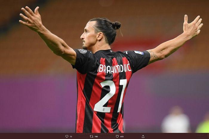 AC Milan memainkan lagi bek buangan Manchester United, Diogo Dalot, dan bertumpu pada Zlatan Ibrahimovic.