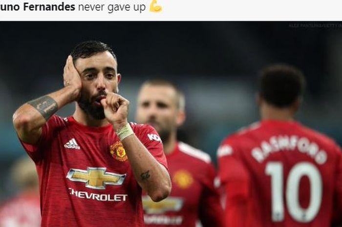 Ditunjuk dadakan menjadi kapten Manchester United dalam konferensi pers menjelang laga Liga Champions, Bruno Fernandes memberikan jawaban bijak.