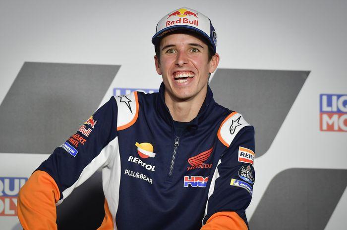 Pembalap Repsol Honda, Alex Marquez, pada konferensi pers jelang MotoGP Teruel, Kamis (22/10/2020).
