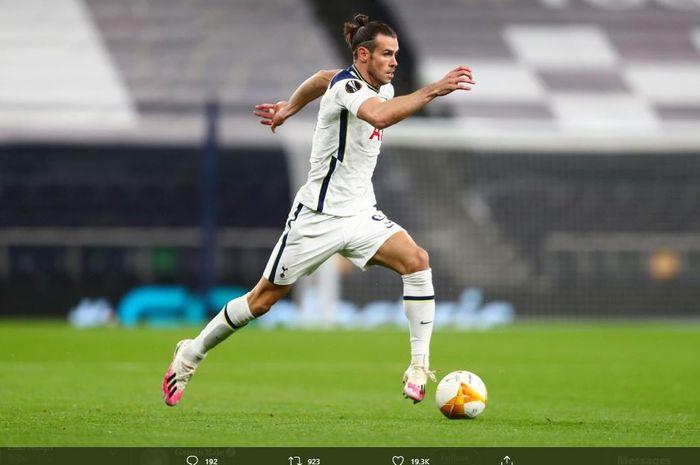 Gareth Bale melakukan debut jilid kedua bersama Tottenham Hotspur dalam laga babak penyisihan grup J Liga Europa 2020-2021 melawan LASK Linz, Kamis (22/10/2020).