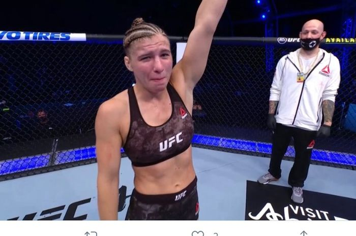 Miranda Maverick, menang dalam laga debutnya di UFC dengan mengalahkan Liana Jojua di UFC 254, Sabtu (24/10/2020).