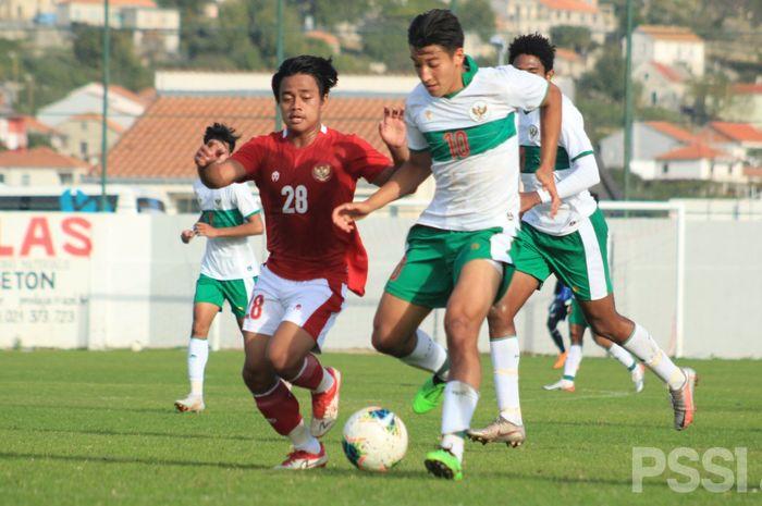Laga Internal timnas U-19 Indonesia, Jumat (23/10/2020)