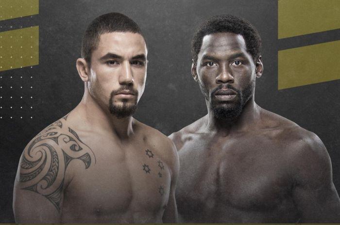 Robert Whittaker mengalahkan Jared Cannonier di UFC 254, Minggu (25/10/2020) WIB.