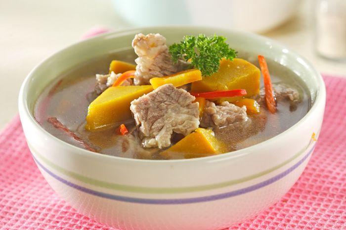 Sup Daging Labu Kuning