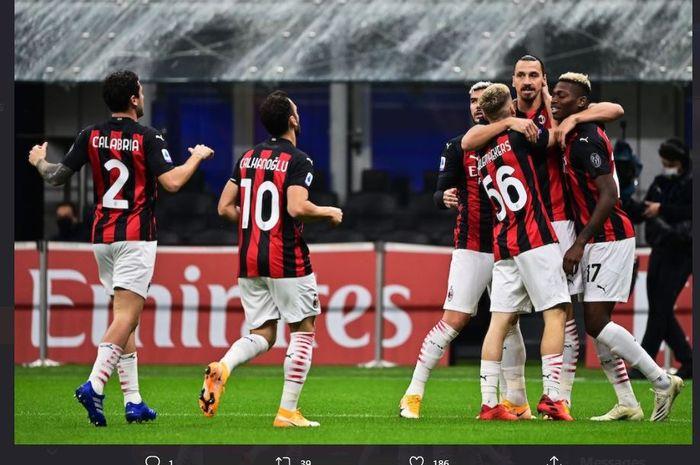 AC Milan Ditahan Imbang AS Roma 3-3, Ibrahimovic C