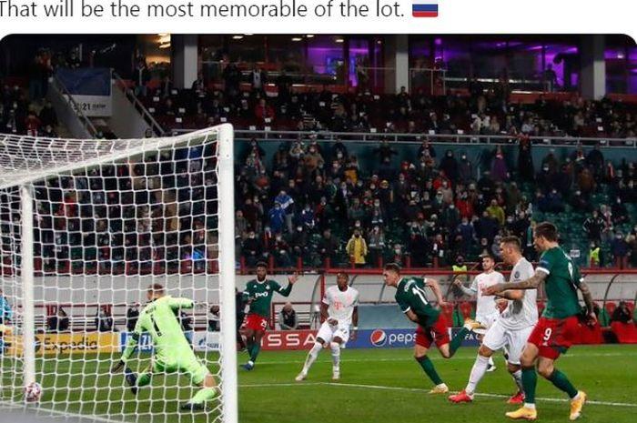 Pemain terhebat Lokomotiv Moskva menghentikan 10 gol beruntun Bayern Muenchen dalam laga Grup A Liga Champions, Selasa (27/10/2020).