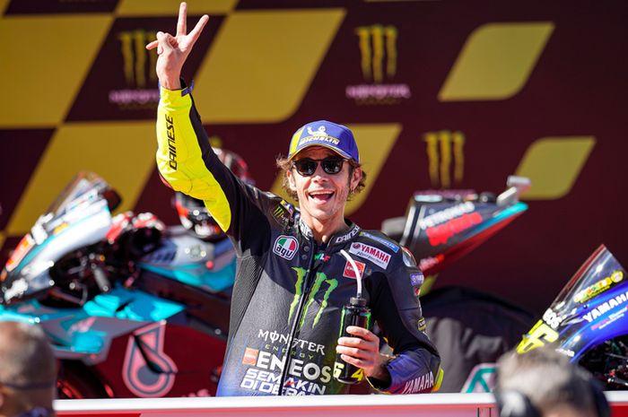 Pembalap MotoGP 2020 dari Monster Energy Yamaha, Valentino Rossi.