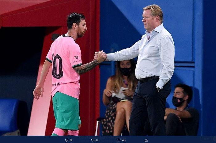 Ronald Koeman memimpin laga keduanya bersama Barcelona saat Blaugrana menang 3-1 atas Girona dalam laga persahabatan di Stadion Johan Cruyff, Rabu (16/9/2020) waktu setempat atau Kamis dini hari WIB.