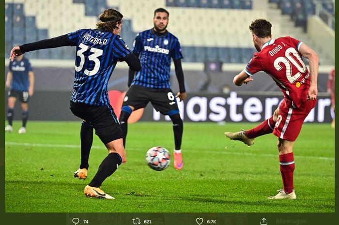 Diogo Jota tampil brilian dalam kemenangan Liverpool atas Atalanta di Grup D Liga Champions 2020-2021.