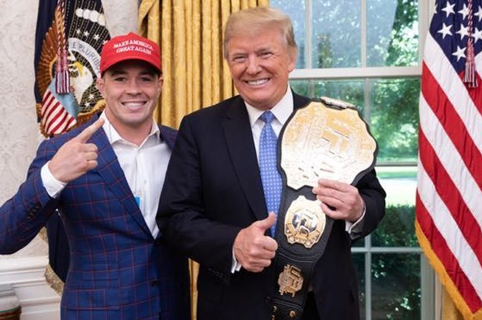 Colby Covington dan Donald Trump.