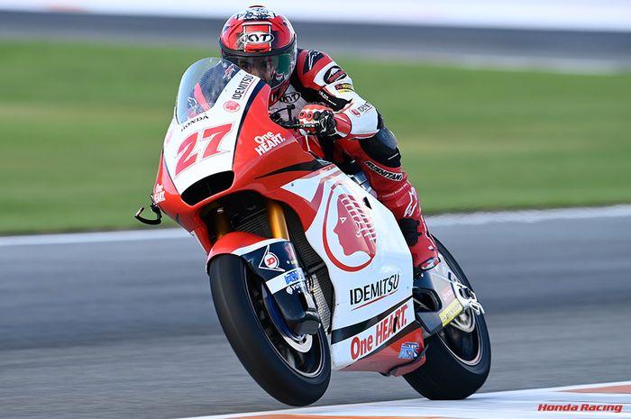 Andi Gilang nyaris meraih point di Moto2 Eropa. Posisi 17 adalah yang terbaik dalam kariernya di kelas menengah