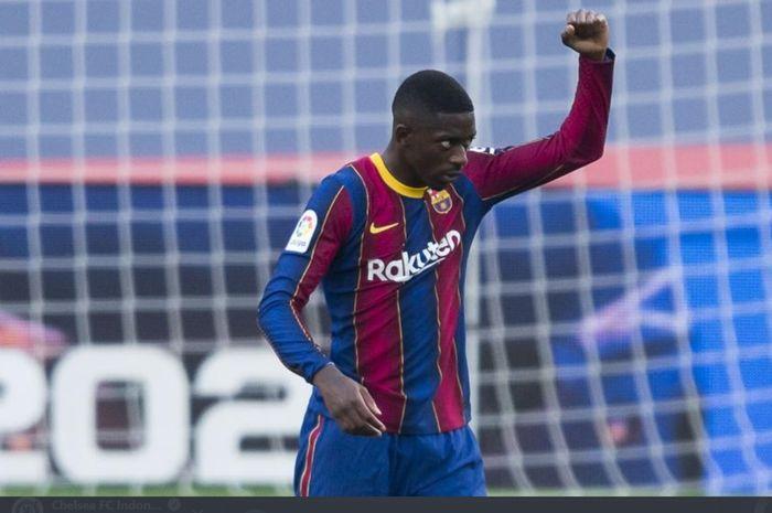 Winger Barcelona asal Prancis, Ousmane Dembele, diprediksi bakal bertahan seiring cederanya Ansu Fati yang menepi hingga 4 bulan.