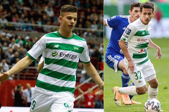 Dua pemain muda Lechia Gdansk, Mateusz Zukowski dan Egy Maulana Vikri, bersaing ketat agar bisa selalu tampil.