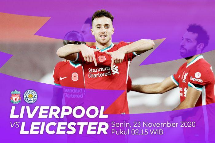 Jadwal pertrandingan Liverpool vs Leicester City di pekan ke-9 Liga Inggris 2020/2021.