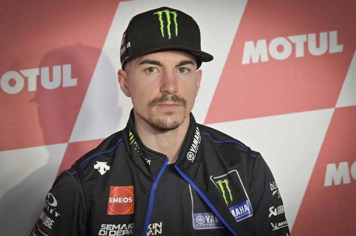 Pembalap Monster Energy Yamaha, Maverick Vinales, pada konferensi pers jelang GP Portugal, Kamis (19/11/2020).
