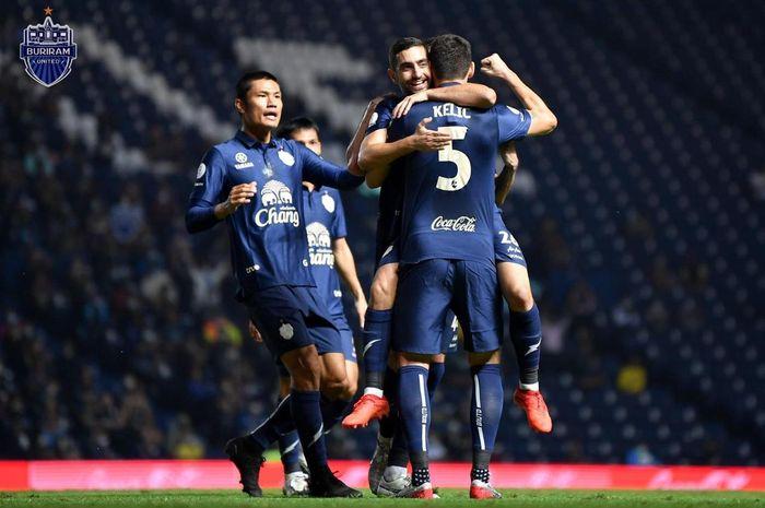 Aksi Buriram United di Liga Thailand 2020.