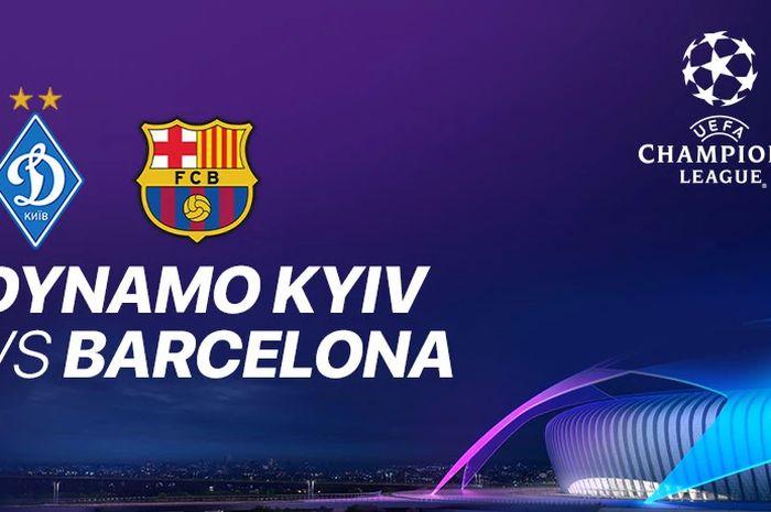 Poster laga Dynamo Kyiv vs Barcelona di Liga Champions 2020/2021.