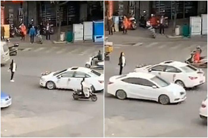 Gadis ini nekat cegat mobil pengantin berisi mantan pacarnya