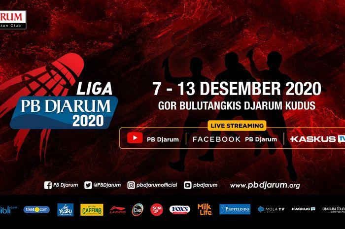 Liga PB Djarum 2020 akan kembali digulirkan pada 7-13 Desember 2020 di GOR Djarum Jati, Kudus, Jawa Tengah.