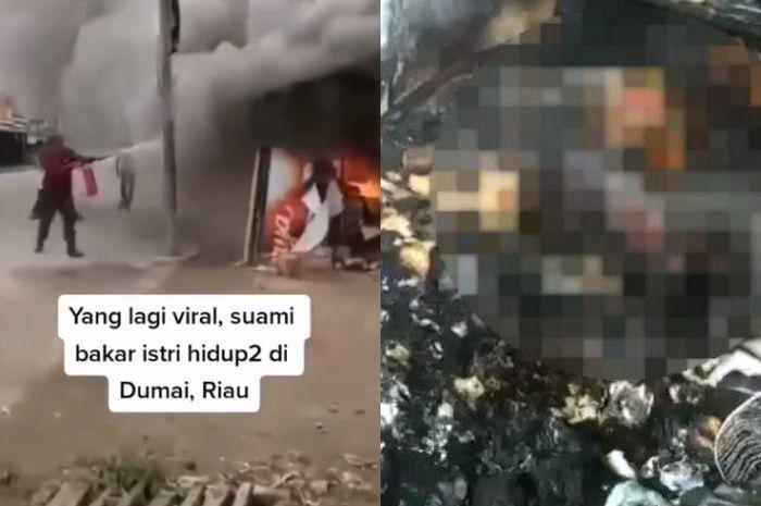 Seorang pria tega bakar istrinya hidup-hidup
