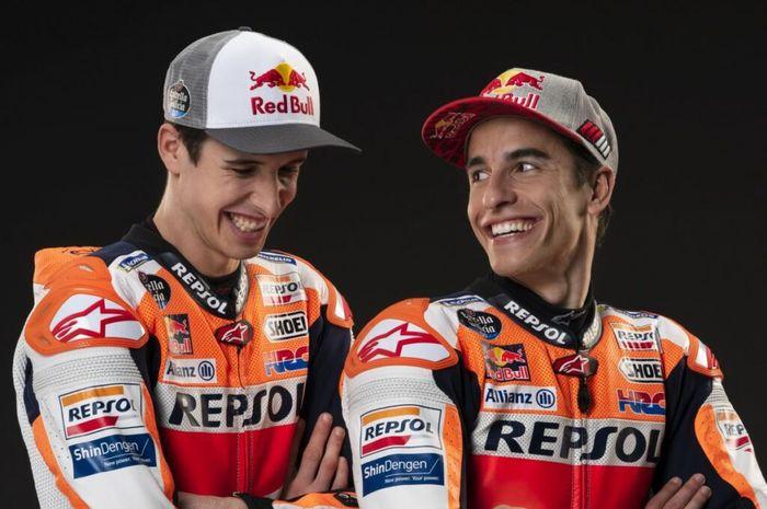 Marc Marquez dan ALex Marquez, dua bersaudara pembalap MotoGP.