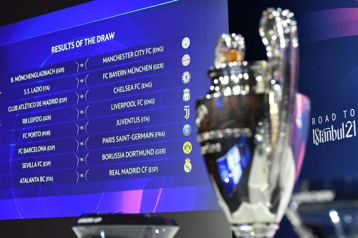 Hasil undian babak 16 besar Liga Champions 2020/2021.