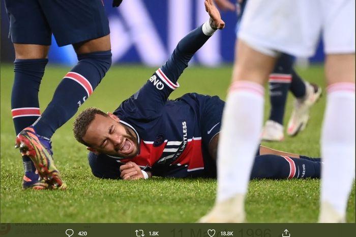 Neymar mengatakan dia diselamatkan oleh Tuhan karena cedera engkel yang dideritanya saat Paris Saint-Germain mengalahkan Lyon di Liga Prancis.