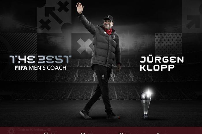 Juergen Klopp meraih gelar Pelatih Terbaik Dunia 2020