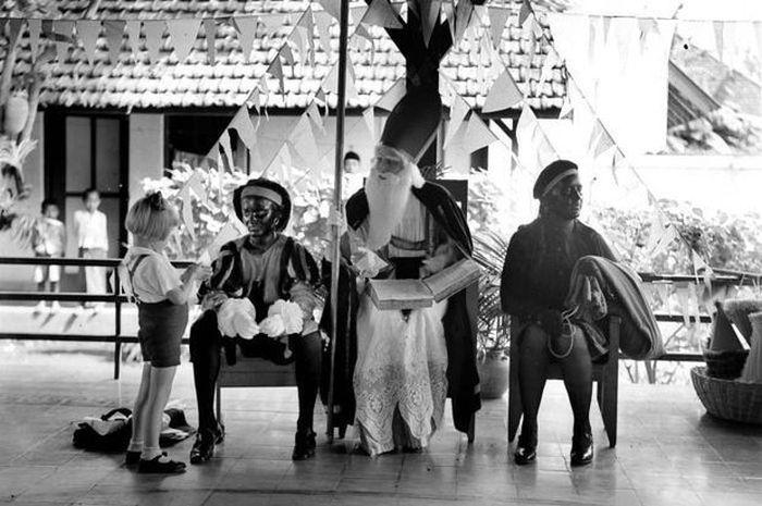 Sinterklas di Sekolah Montessori Malang, Jawa Timur, 1935