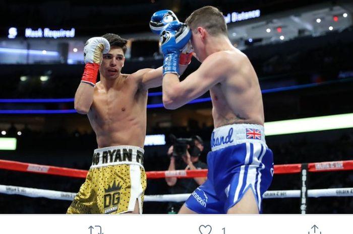 Duel Ryan Garcia vs Luke Campbell, Sabtu (2/1/2021) di California.