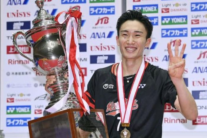 Tunggal putra asal Jepang, Kento Momota, masuk sebagai nominasi Laureus World Sports Awards 2021.