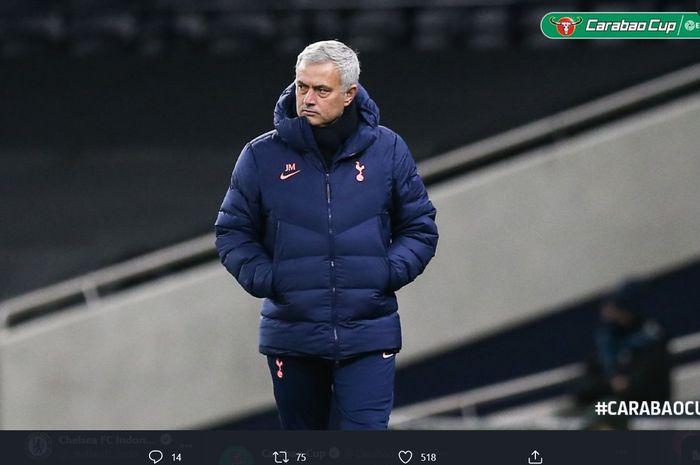 Jose Mourinho sukses mengantarkan Tottenham Hotspur ke final Piala Liga Inggris atau Carabao Cup 2020-2021.