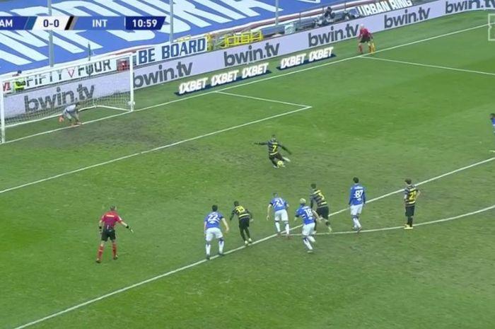 Aksi memukau pemain keturunan Indonesia pada menit ke-11 yang menumbangkan Inter Milan di Liga Italia.