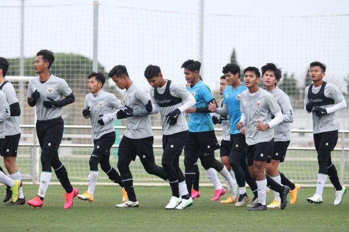 Skuad Timnas U-19 Indonesia saat menjalani Pemusatan latihan (TC) di Spanyol.